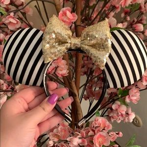 Striped and Gold Mickey Ears